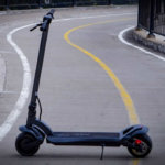Fluid FreeRide WideWheel electric scooter in urban setting