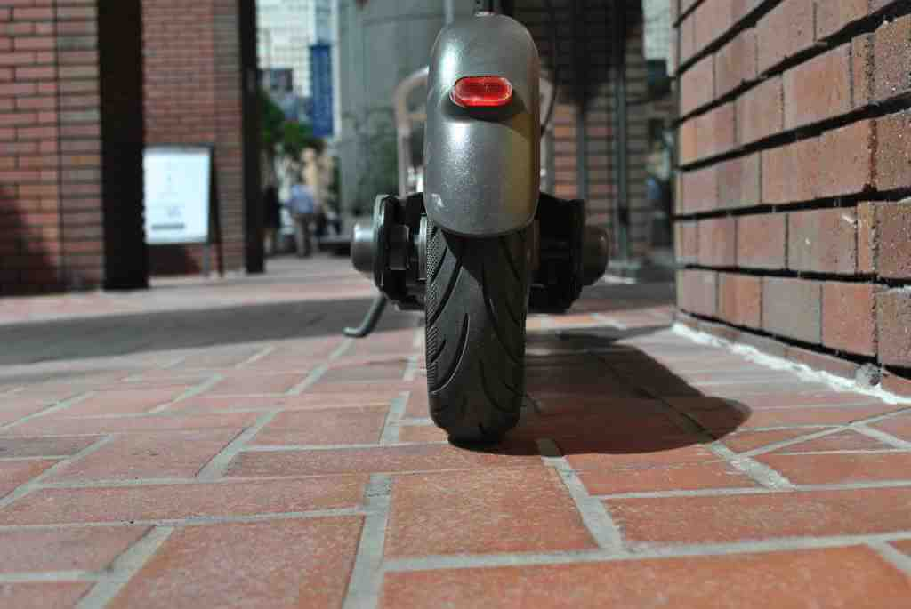 Ninebot Max rear wheel, fender, and tail light