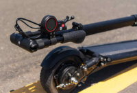 Horizon electric scooter handlebars fold into a compact package