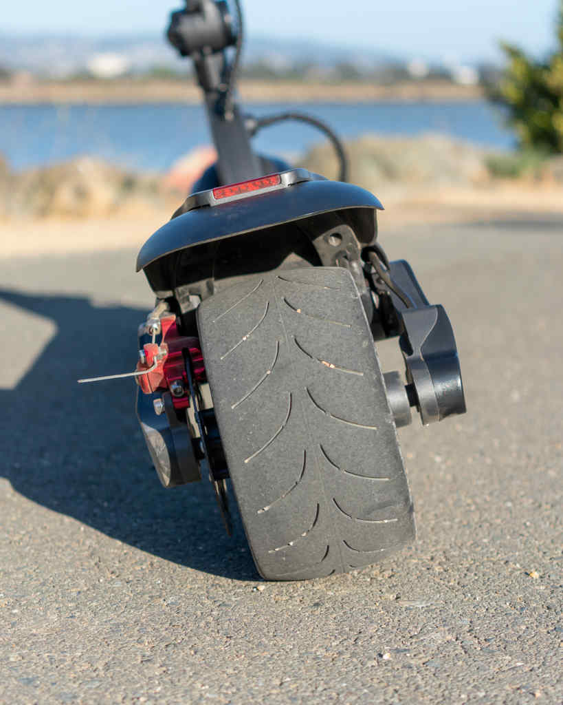 Electric scooter large rear solid tire