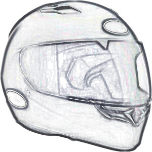 Sketch of generic helmet