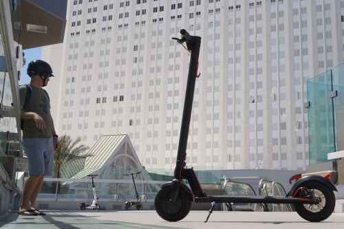Gotrax scooter in urban environment