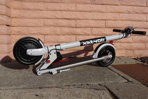 Xr electric scooter in the folded configurtion