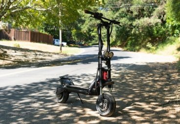 Kaabo Wolf Warrior 11 electric scooter in the street