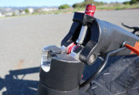 Electric scooter folding mechanism