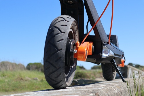 OX electric scooter front tire and stem