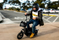 Turning a corner on the Fiido Q1S electric scooter