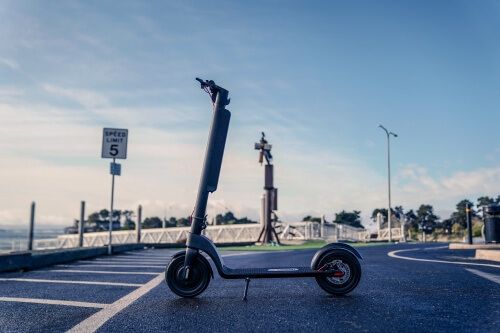 TurboAnt X7 Pro Electric Scooter -full scooter, marina background
