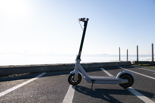 Segway Ninebot Max G30LP Electric Scooter - full scooter, upright side view, bright sky