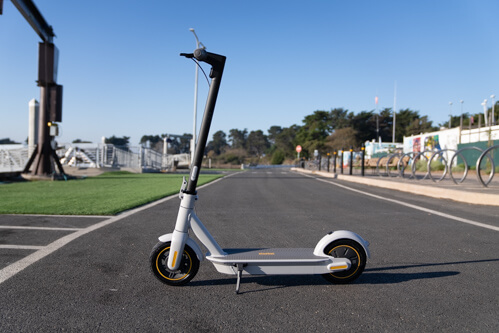 Segway Ninebot Max G30LP Electric Scooter - full scooter, upright, side view