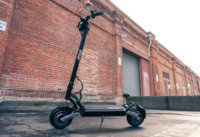 Apollo Phantom electric scooter - scooter, full, brick wall