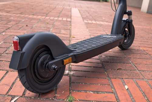 Apollo Air Pro electric scooter - low angle deck, cropped